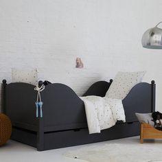 grey vintage kids bed
