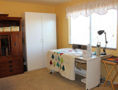 Christa's bright sewing room includes her favorite tool, a BERNINA