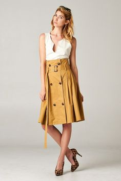 """Clever """"trench coat"""" skirt."""