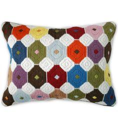 Pillows - Multi Chamomile Bargello Throw Pillow