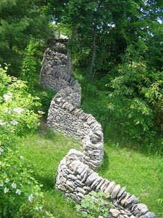 Dry stone coursing wall by Dean McLellan, Ontario