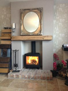 Ci5 freestanding by Fireplace & Stove Shop Nottingham. Panorama door option