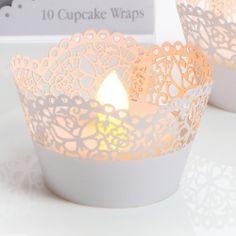 10 contours à cupcake - coloris blanc