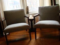 blue chevron chairs