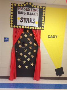 Hollywood classroom door