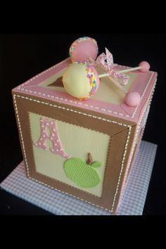 Baby girl birthday cake idea.