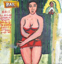 Rita R. thanks the Virgin for being a prostitute, earning money and being happy . Mexico City, 1999