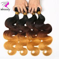 76.50$  Watch now - http://ali8ow.worldwells.pw/go.php?t=32756808144 - 7A Brazilian Virgin Hair Ombre Body Wave 4 Bundles 1b#4#27 Ombre Human Hair Ombre Brazilian Hair Body Wave Brazilian Body Wave