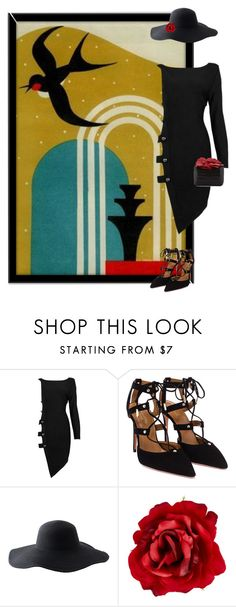 """""""Movements 3/5 - Art Deco Posters"""" by hippiechick63 ❤ liked on Polyvore featuring Posh Girl, Aquazzura, Peter Grimm, Accessorize and Nancy Gonzalez"""