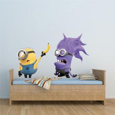 Minion Wall Decals | Minion wallpaper is the easiest way to kids room decor, cute minion ...