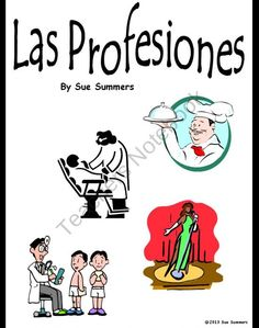 This item contains 58 colorful clip art slides with the Spanish profession vocabulary word. They can be printed and used as flashcards or bulletin board signs, or you can show the presentation in class to introduce and review professions vocabulary. The picture comes out first and the vocabulary word follows on mouse click.