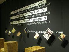 Gibellina, Belice/ Epicentro della memoria viva, dettaglio allestimento