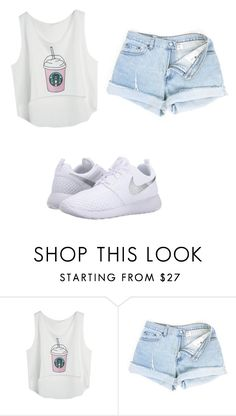 """It's so hot outside"" by ilovefashion101102 ❤ liked on Polyvore featuring NIKE"