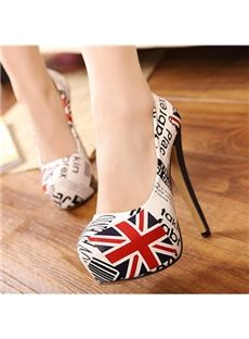 Chic Letters Design Lady's High Heels Pumps