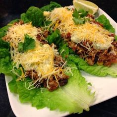 Twins + One, How Mama Got Her Groove Back:   Santa Fe low calorie ground Turkey lettuce Wraps