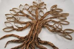 tutorial for twisted tolitet paper roll oak tree