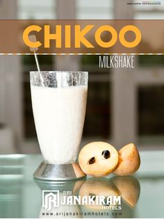 Chikoo Milkshake is a quick shake made with sapota and milk and it's a very yummy beverage which goes perfectly in evening hangouts with friends.  #srijanakiram #milkshake #chikoo #sapota #evening #special