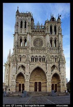 As the tallest cathedral in France, Notre-Dame of Amiens, built in the 13th century, represents the pinnacle of Gothic engineering. Recent research has revealed that, although they now appear as bare stone, like all medieval sculptures, the fine display of sculptures on the principal facade was originally painted polychrome. Using laser projectors, every night in summer, for forty-five minutes, those surprising colors are recreated during a bilingual narrated light and sounds show.