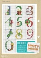 Gallery.ru / Фото #53 - CrossStitcher 311 - tymannost Christmas Cross Stitch Alphabet, Monogram Cross Stitch, Xmas Cross Stitch, Book Pages, Needlepoint, Christmas Ornaments, Christmas Trees, Lettering, Crafty