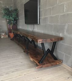 Resin Furniture, Industrial Design Furniture, Steel Furniture, Wooden Furniture, Furniture Design, Interior Design Living Room, Living Room Decor, Carpentry And Joinery, Rustic Wood