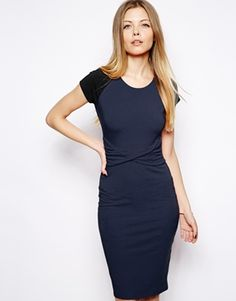 ASOS Body-Conscious Dress With Twist Waist Detail