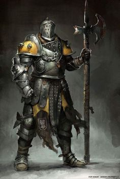 m Fighter Plate Armor Helm Halberd midlvl For Honor concept art by Guillaume Menuel : forhonor Fantasy Character Design, Character Concept, Character Art, Armadura Medieval, Medieval Armor, Medieval Fantasy, Knight Art, Armor Concept, Warrior Concept Art