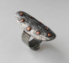 Metal ring The Magic Shield by incrustador on Etsy