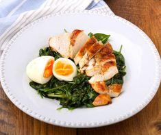 Egy finom Sült csirkemell spenóttal és tojással ebédre vagy vacsorára? Sült csirkemell spenóttal és tojással Receptek a Mindmegette.hu Recept gyűjteményében! Low Calorie Recipes, Healthy Recipes, Baked Ziti, Cobb Salad, Lunch, Chicken, Ethnic Recipes, Food, Recipes