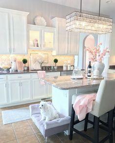 Home Decor Kitchen .Home Decor Kitchen Layout Design, Design Ideas, Dream Home Design, House Design, Pink Kitchen Decor, Cuisines Design, Home Decor Inspiration, Decor Ideas, Cheap Home Decor