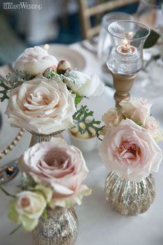 Soft blush pink and gold wedding flowers and decor, wedding table setting, place setting, florals, wedding ideas, wedding inspiration mercury glasses VIBRANT INDIAN WEDDING BY THE FALLS www.elegantwedding.ca