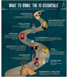 #hiking # what to bring : the 10 essentials #keeponmoving