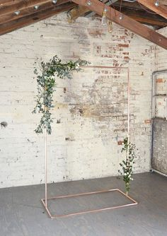 Copper Wedding Backdrop Archway Frame for Flowers & Garlands This copper ceremony arch is so versatile because you can decorate it with whatever you want! Simple Wedding Arch, Wedding Arch Rustic, Copper Wedding, Wedding Ceremony Backdrop, Ceremony Arch, Garland Wedding, Industrial Wedding, Diy Wedding, Wedding Flowers