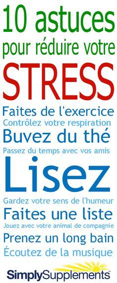 Stressé(e)? Voici quelques 10 astuces anti-stress...