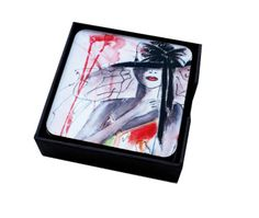 * Set of 6 different coasters  * A unique image on each mat   *9,60 x 9,60 cm
