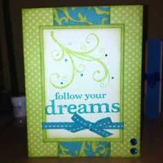 Card using CTMH products, Dotty for you paper pack, and You & Me workshop stamp set