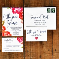 Professionally printed wedding invitation set on our amazingly thick feel-good…
