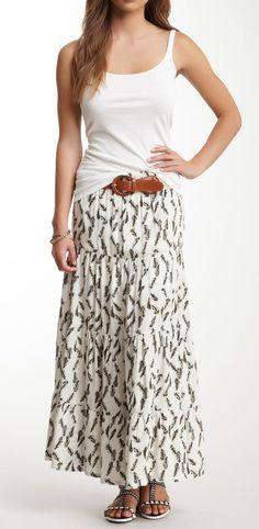Rachael & Chloe Printed Maxi Skirt