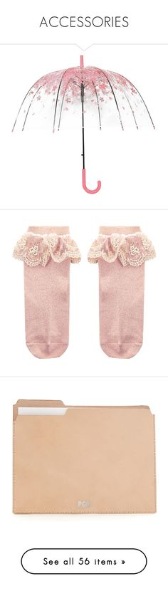 """""""ACCESSORIES"""" by mydntkrl ❤ liked on Polyvore featuring accessories, umbrellas, bubble dome umbrella, clear umbrella, see through umbrella, pink umbrella, dome shaped umbrella, intimates, hosiery and socks"""