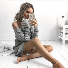 Autumn Winter Spring Women Sweater Dress Long Sleeve Sexy V Neck Pullover . - - Autumn Winter Spring Women Sweater Dress Long Sleeve Sexy V Neck Pullover Jumpers Casual Loose Fit Knitwear Outwear New – Crystalline Source by Poses Photo, Pic Pose, Picture Poses, Photo Pour Instagram, Instagram Pose, Selfie Poses, Selfie Sexy, Long Sweater Dress, Dress Long