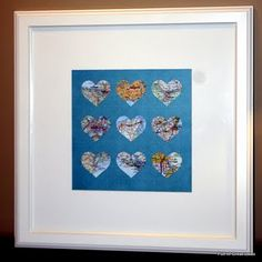 special place in my heart art.   hearts of all the places we've been together with room to grow. so cute!