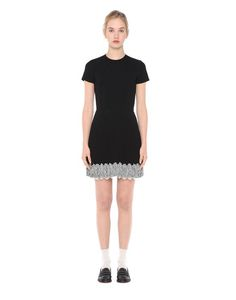 Are you looking for REDValentino Women LACE DETAIL PLEATED CREPE DRESS? Discover all the details at the official store and shop online: fast delivery and secure payments.