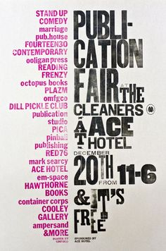 Publication Fair at the cleaners