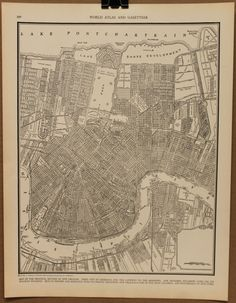 Vintage Map of New Orleans Original 1935 by PastOnPaper on Etsy, $14.00