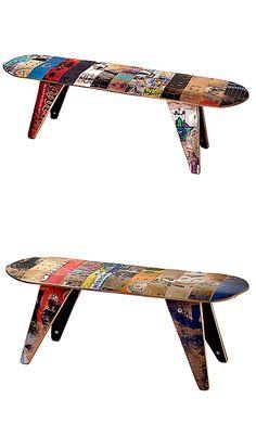 skateboard bench or stool