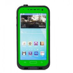 WaterProof Case for Galaxy S4/I9500- Green. It comes with a headphone adapter that allows you to use headphones in wet, dusty or icy environments while keeping your phone safe and sound.