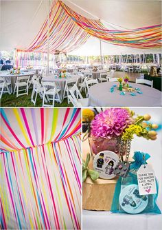 colorful wedding ideas | how to decorate a wedding tent | bright colored palette | #weddingchicks