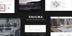Enigma - Minimal Multi-Purpose WordPress Theme by TDGR  Enigma is the clean and minimal WordPress theme. Built with powerful Visual Composer page builder. It contains awesome and moder