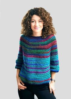 Cute Free Crochet Sweater Pattern Ideas For This Year - Page 2 of 38 - Daily Crochet! Pull Crochet, Mode Crochet, Crochet Hooks, Crochet Top, Knitting Patterns, Crochet Patterns, Sweater Patterns, Free Knitting, Cardigan Au Crochet