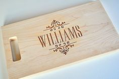 Personalized Cutting Board Laser Engraved 11x15 by mrcwoodproducts, $40.00