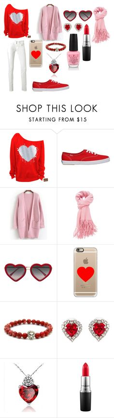 """""""Valentine's Love"""" by indigofudge on Polyvore featuring LTB by Little Big, Markus Lupfer, Casetify, Christopher Kane, MAC Cosmetics, OPI, women's clothing, women's fashion, women and female"""